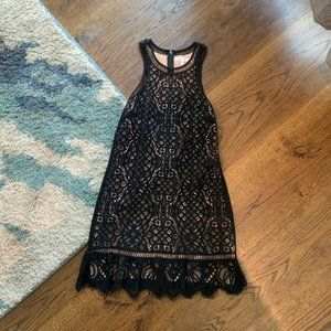 Lovers & Friends Black Lace Mini Dress